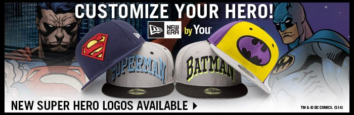Superhero Logos Now Available - Create Your Own Custom With New Era By You!