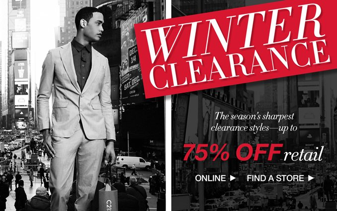 Shop Men's Winter Clearance Up to 75% Off