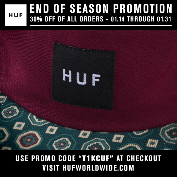 HUF ONLINE STORE // END OF SEASON PROMOTION
