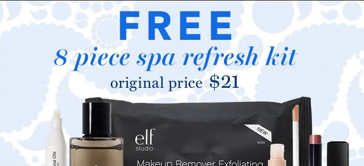 Free 8 Piece Spa Refresh Kit Use Code: REFRESH Get It Now!