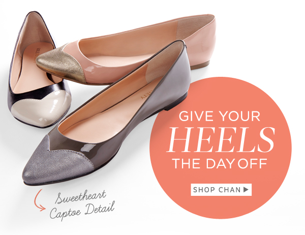 Give Your Heels the Day Off: Shop Chan