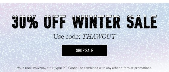 Up to 65% off our Winter Sale