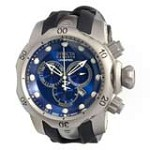 Invicta 14168 Men's Subaqua Venom Reserve Blue Dial Black Rubber Strap Chronograph Dive Watch
