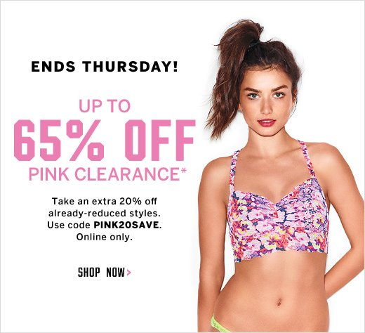 Up to 65% Off PINK Clearance