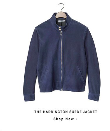 The HARRINGTON SUEDE JACKET - Shop Now
