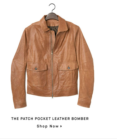 THE PATCH POCKET LEATHER BOMBER - Shop Now