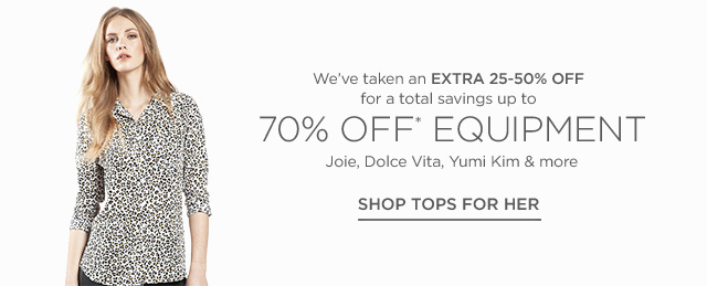 Up to 70% off Tops For Her