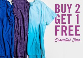 Shop Buy 2 Get 1 Free: Essential Tees