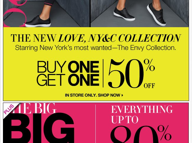 The New Love NY&C Collection is B1G1 50% off In Store Only.
