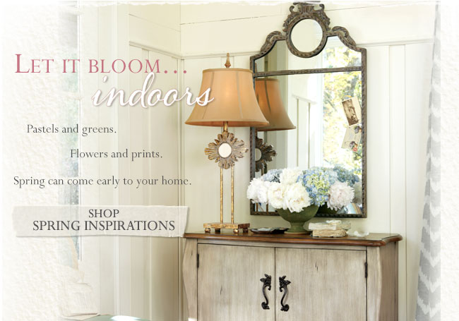 Let it Bloom...Indoors. Shop Spring Inspirations