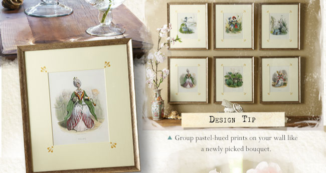 Group pastel-hued prints on your wall like a newly picked bouquet.