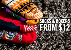 Shop Patterned Socks & Boxers from $12