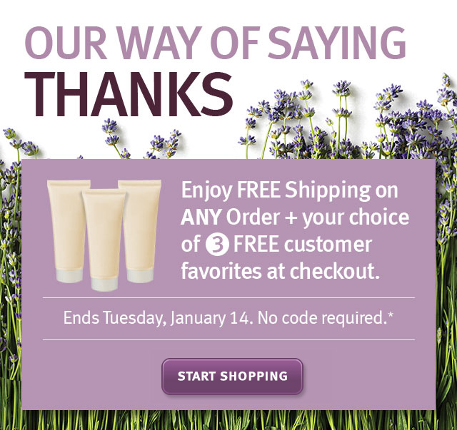 our way of saying thanks. start shopping.