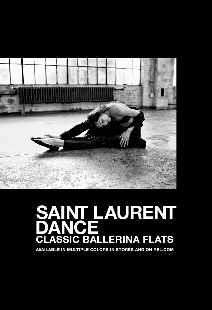 Saint Laurent Classic Dance Ballerina Flats / In Stores and on ysl.com