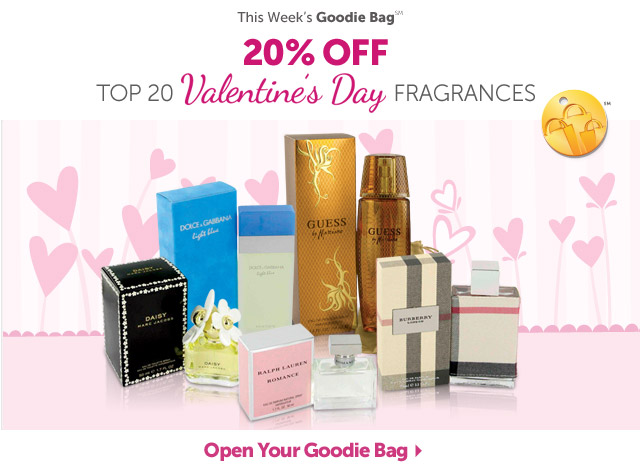 This Week's Goodie Bag - 20% OFF+ Top 20 Valentine's Day Fragrances