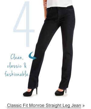 4 Clean, classic & fashionable. Classic Fit Monroe Straight Leg Jean »