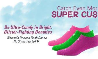 Women's Dryroad Flash Dance No Show Tab 3pk