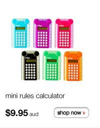 mini rules calculator $9.95aud - shop now >