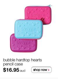 bubble hardtop hearts pencil case $16.95aud - shop now >
