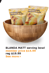 BLANDA MATT serving bowl | member price $14.99