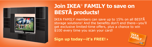 Save 15% on BESTÅ products as an IKEA FAMILY member!