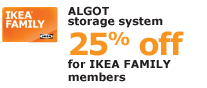 ALGOT storage system | 25% off for IKEA FAMILY members