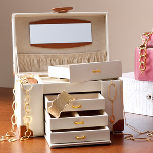 For Safekeeping: Jewelry Boxes in Leather & More