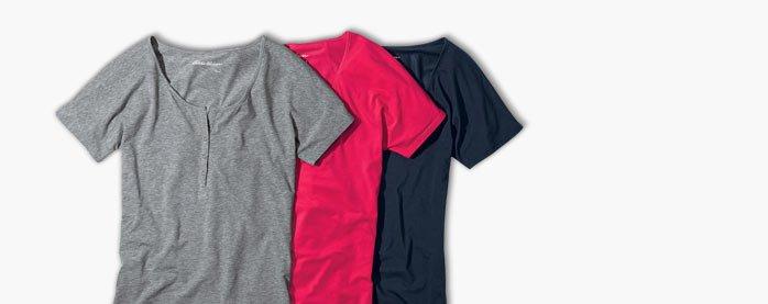 Solid Tissue Henley T-Shirt