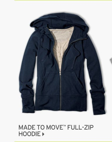 Shop Made to Move Full Zip Hoodie