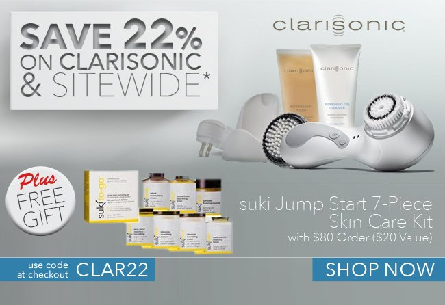 Save 22% on Clarisonic % Sitewide