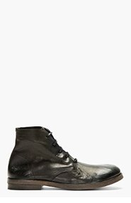 MARSÈLL Black Supple Leather Ankle Boots for men