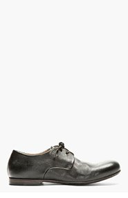MARSÈLL Black Leather Classic Derbys for men