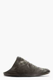 MARSÈLL Black Distressed Suede Slip-On Shoes for men