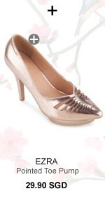 EZRA Cut Out Pointed Toe Pump With Platform