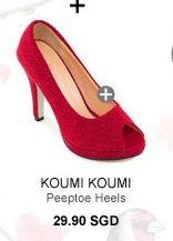 KOUMI KOUMI TOSH Basic Peeptoe Heels