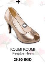 KOUMI KOUMI TASHA Basic Peeptoe Heels