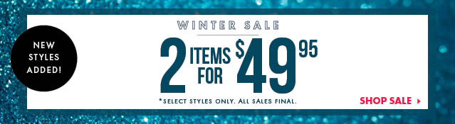 Shop Winter Sale - New Styles Added!