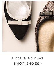 A FEMININE FLAT SHOP SHOES