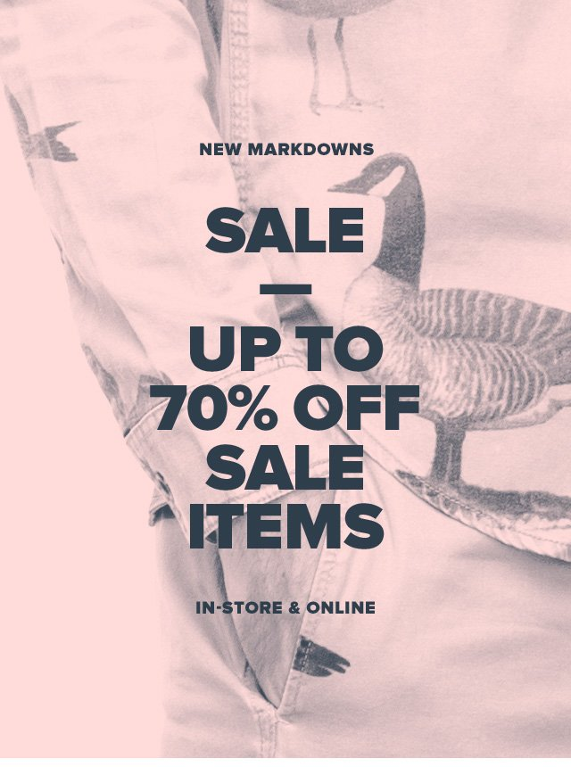 Sale—Up To 70% Off Sale Items
