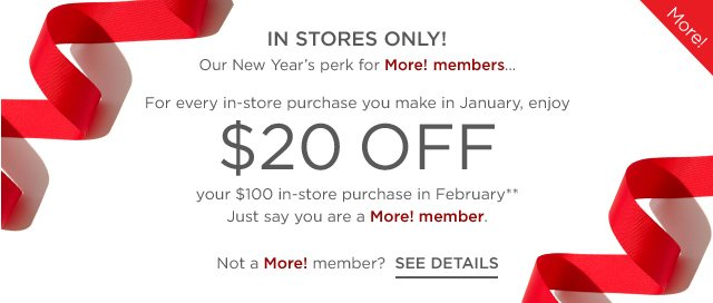 In-store More! offer