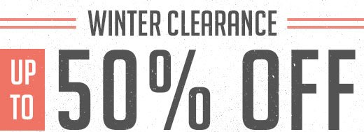 Winter Clearance up to 50% off
