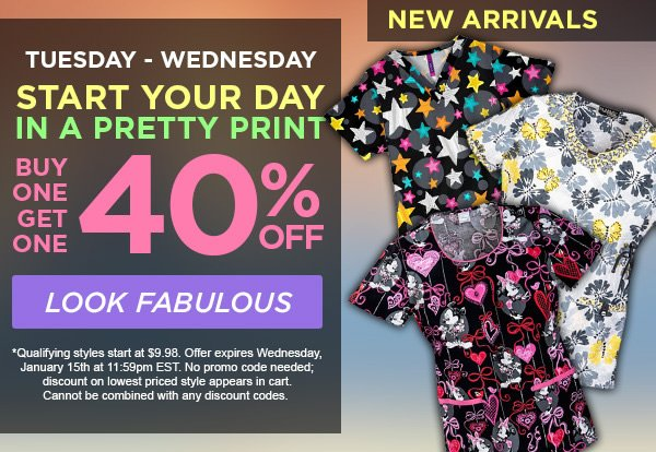 Buy One Print get one 40% OFF - Look Fabulous