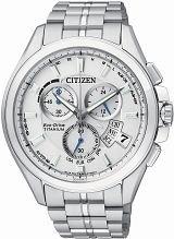 Men's Citizen World Perpetual A-T Titanium Alarm Chronograph Radio Controlled Eco-Drive