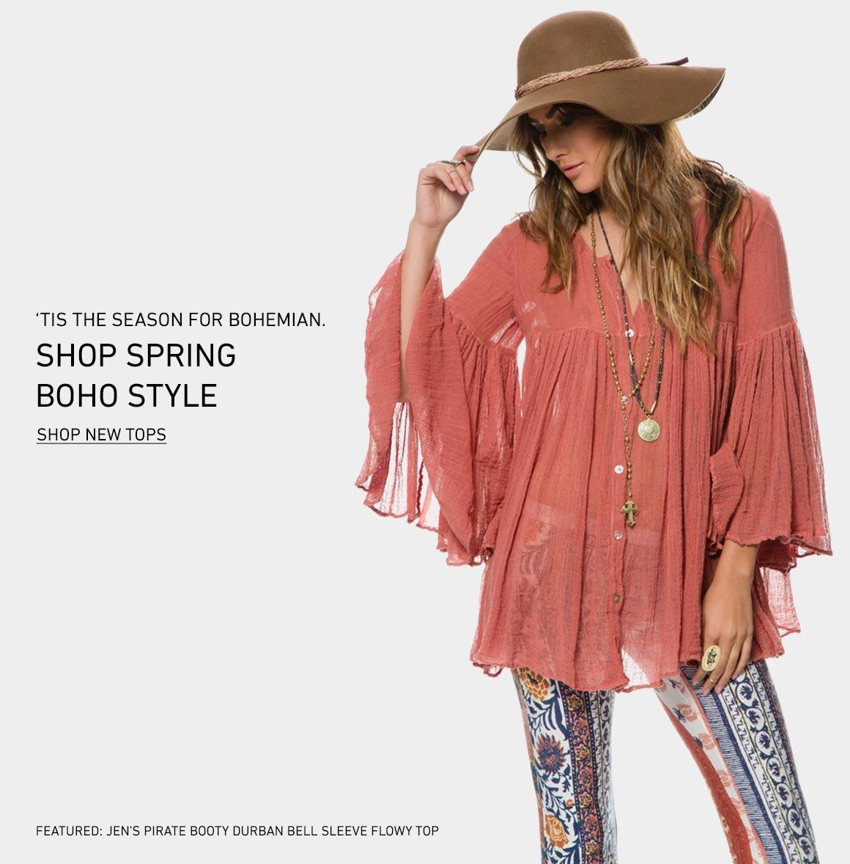 It's Boho Season: Shop New Tops