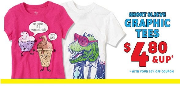 Graphic Tees $4.80 & Up*!