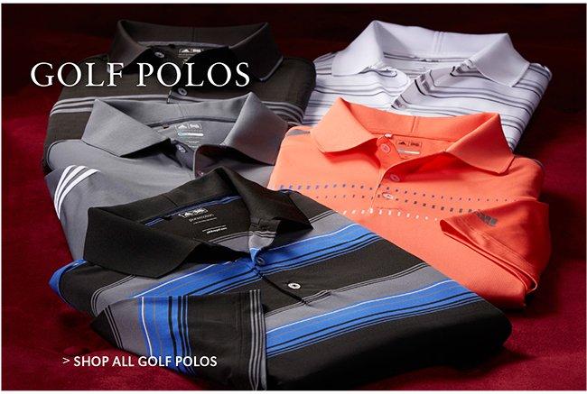 SHOP ALL GOLF POLOS