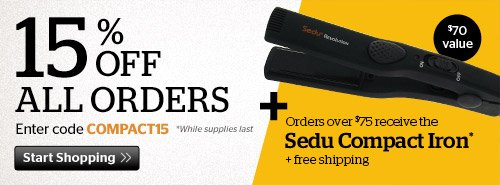 15% off All Order + Sedu Compact Iron