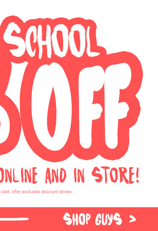 Shop Guys Back To School Up To 60% Off