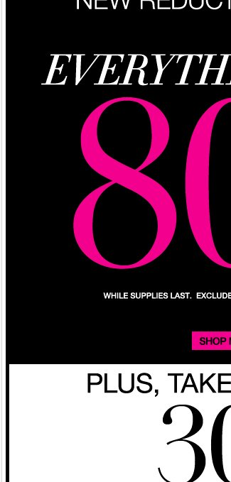 Everything Up to 80% Off! Plus Free Shipping on $50 or more!