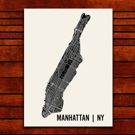 Manhattan Map Art Print